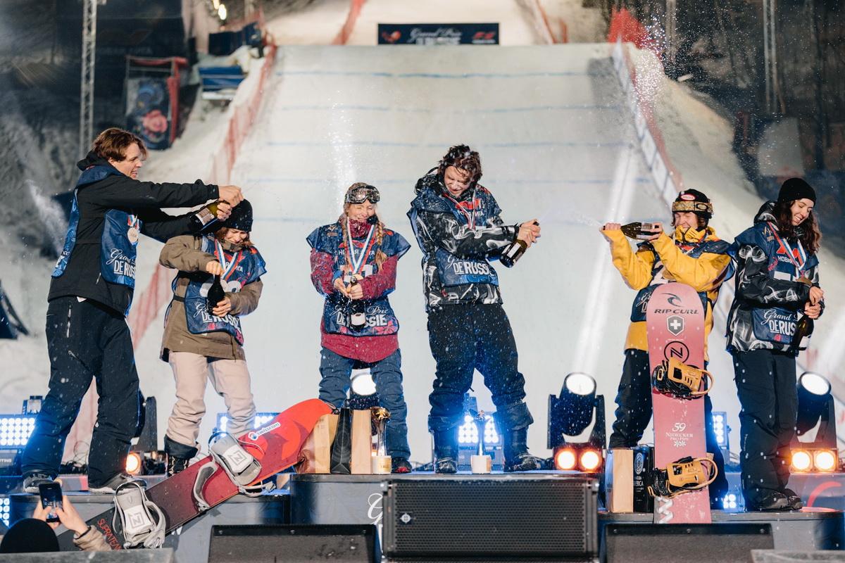 Красиво и опасно: в Москве прошёл этап мирового тура по сноуборду